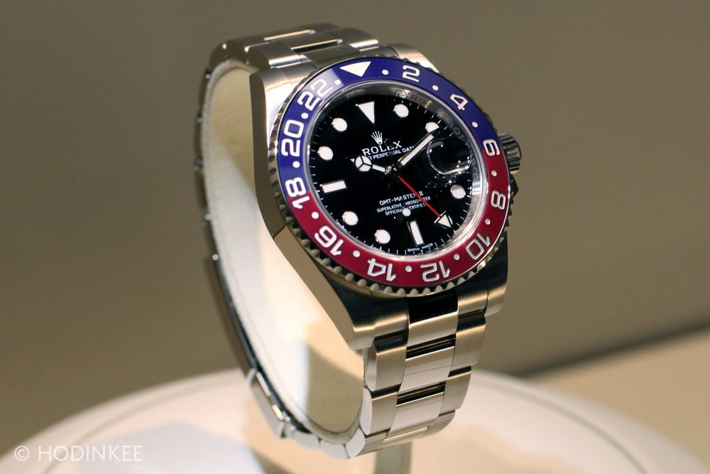 """Hublot Watch Price >> Your First Look At The New Rolex GMT-Master II In White Gold With """"Pepsi"""" Cerachrom Bezel - HODINKEE"""