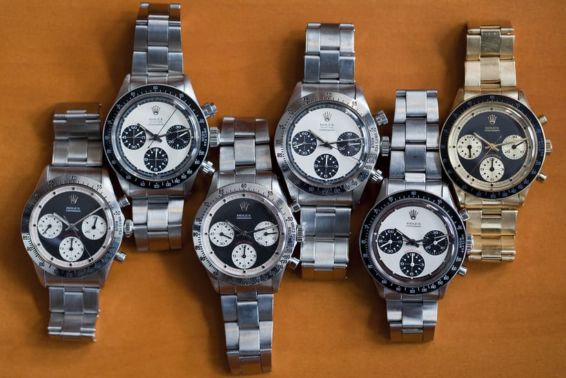 Many Rolex Daytonas