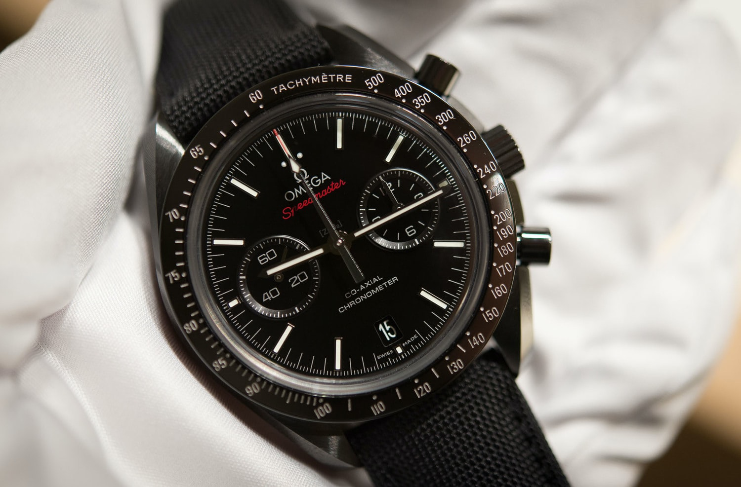 """Thoughts On The Omega Speedmaster """"Dark Side Of The Moon"""": Just How Good Is The Ceramic Speedmaster? (Live Pics + Pricing)"""