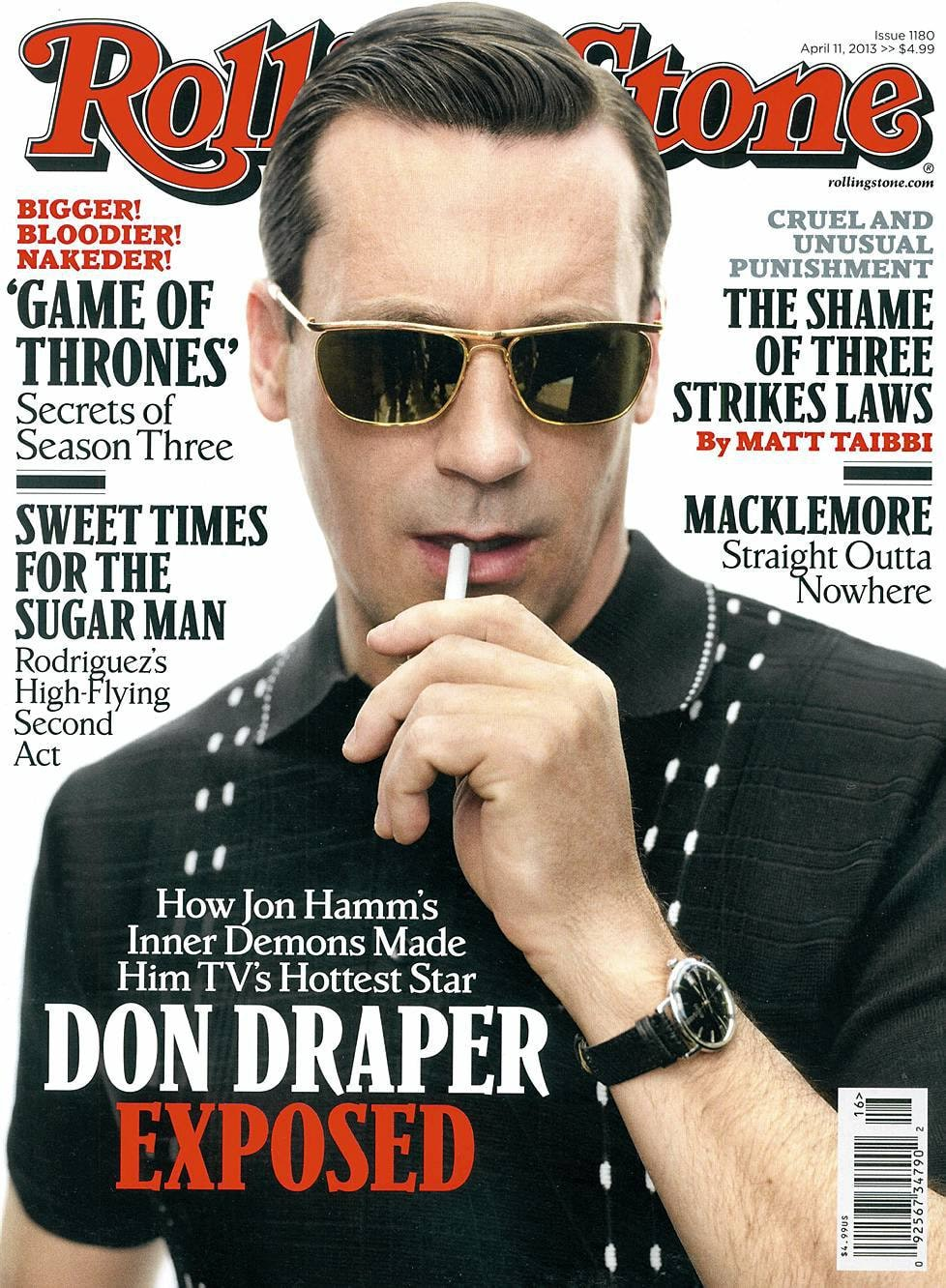 Watch Spotting: Jon Hamm Wearing A Vintage Omega Seamaster On The Cover Of Rolling Stone
