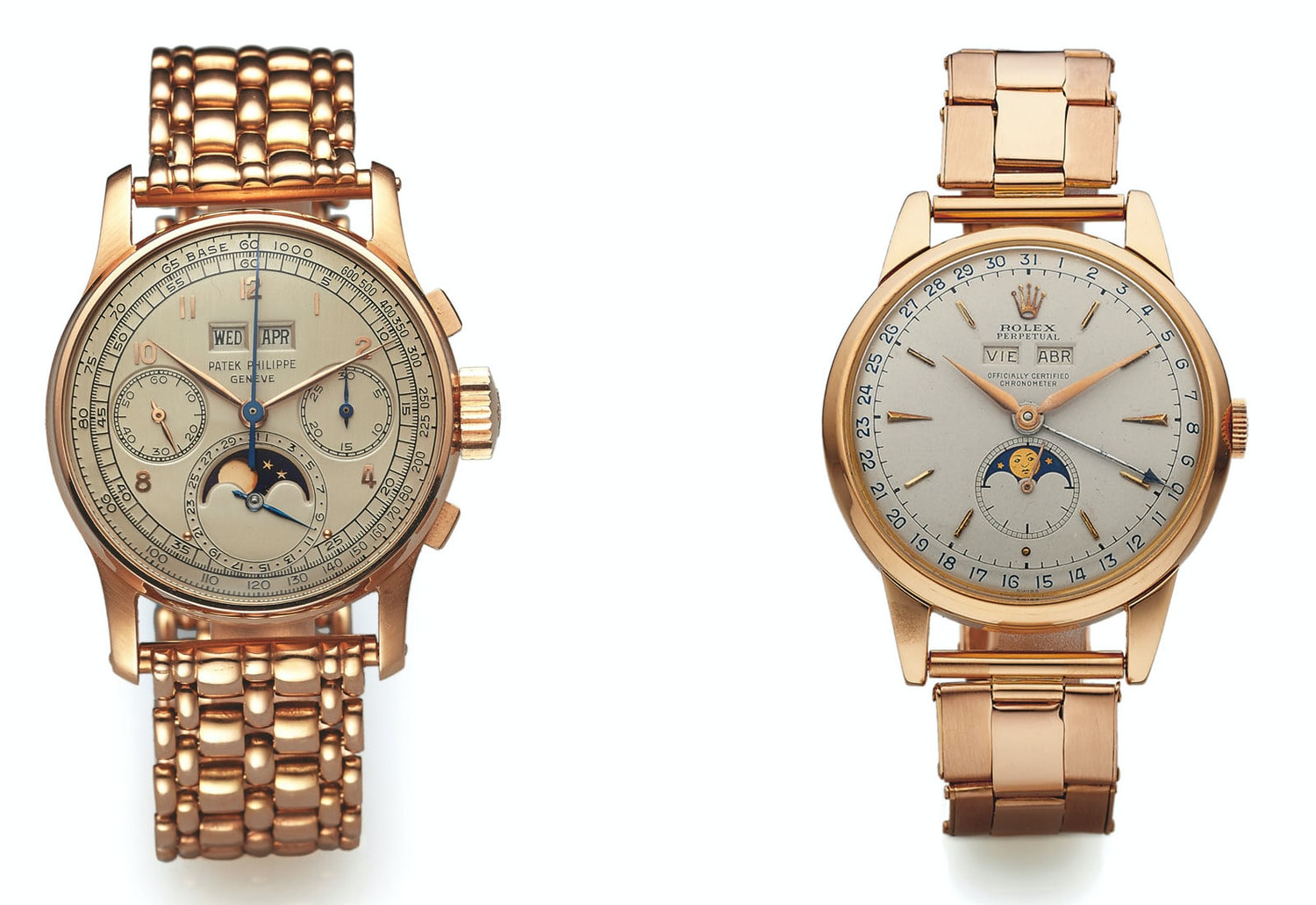 On The Block: Rose Gold Patek Phillipe Ref. 1518 And Rolex Ref. 8171 At Antiquorum New York
