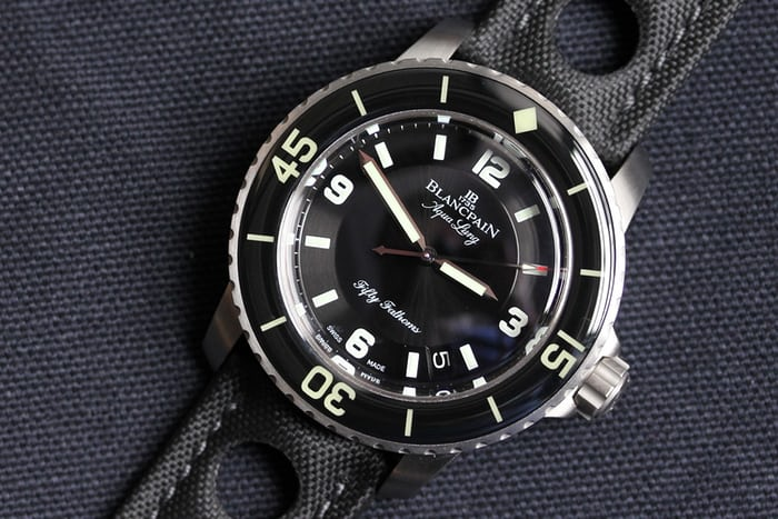 blancpain fifty fathoms tribute