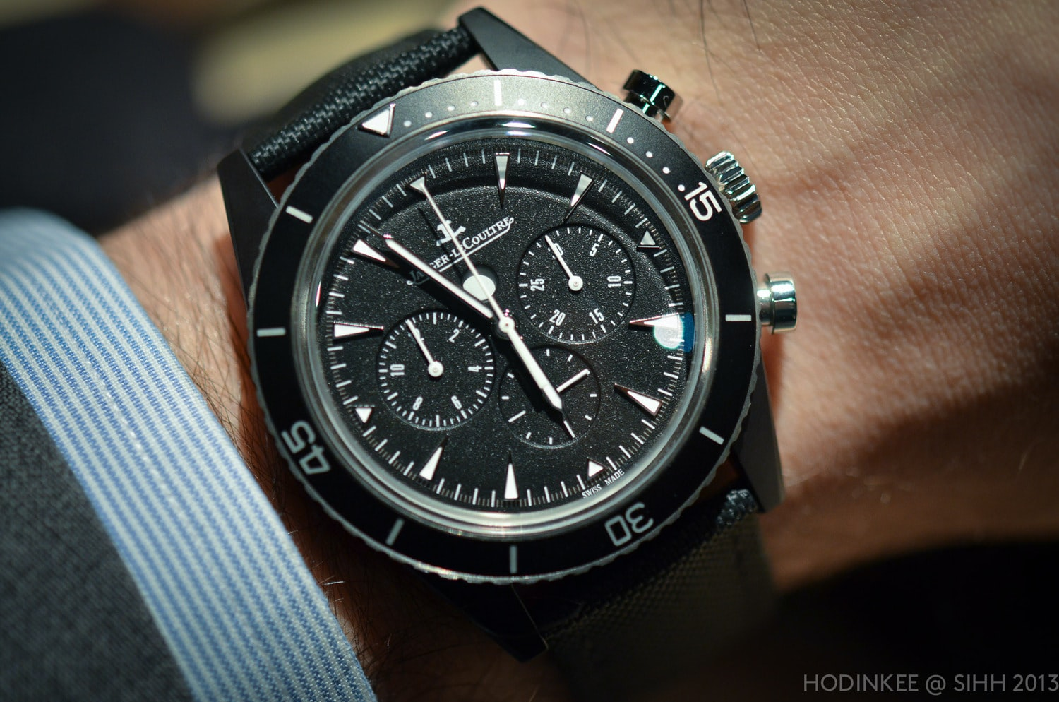 Hands-On: With The Jaeger-LeCoultre Deep Sea Chronograph Cermet (Live Pics, Official Pricing)