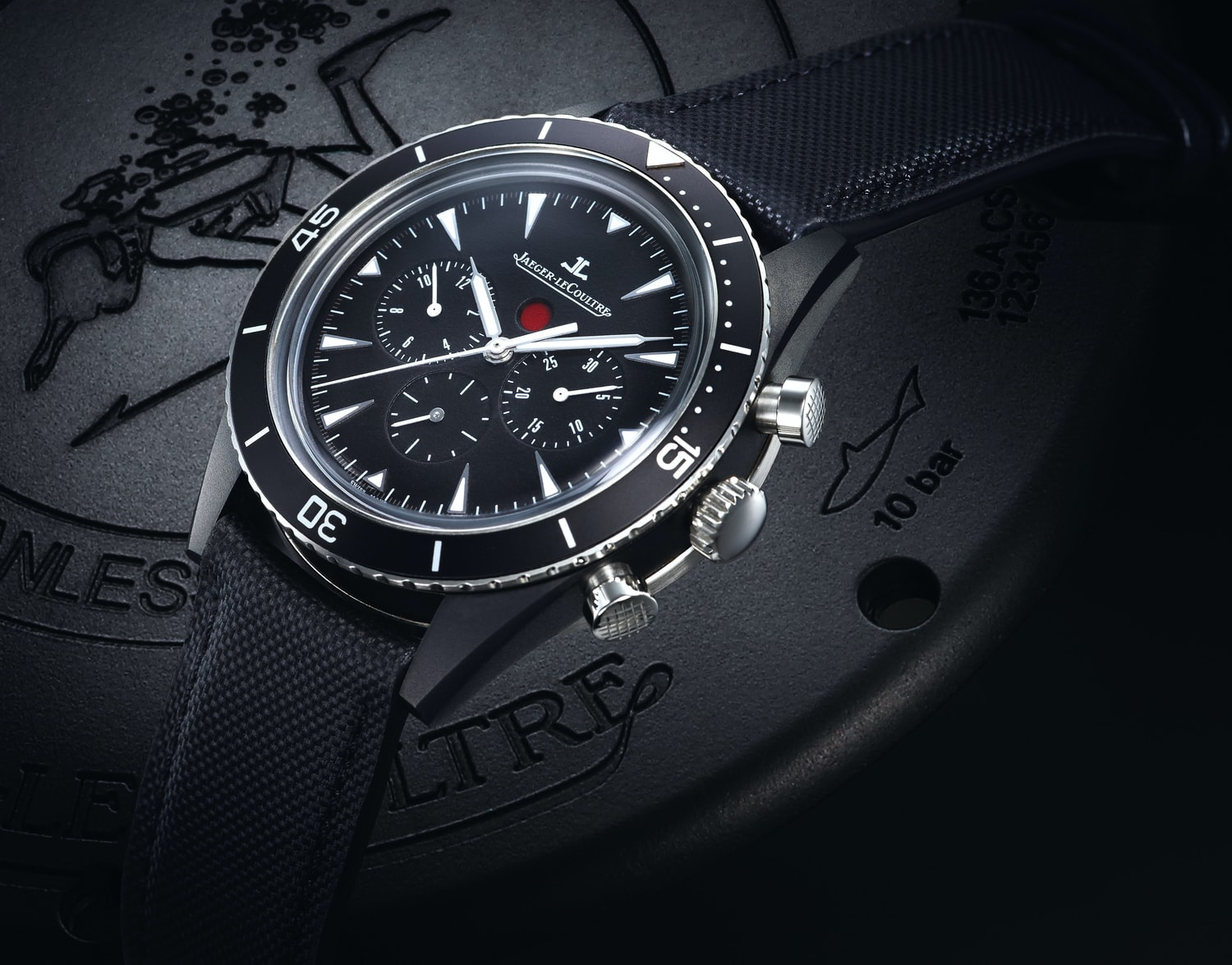 Introducing The Jaeger-LeCoultre Deep Sea Chronograph, This Time In A 44mm Cermet Case