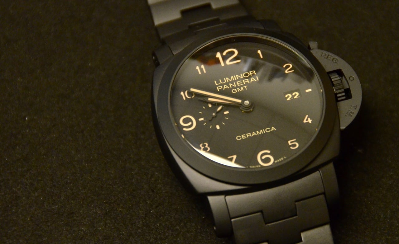 25860359221 Hands-On With The Panerai Tuttonero Luminor 1950 3 Days GMT Automatic  Ceramica (PAM00438)