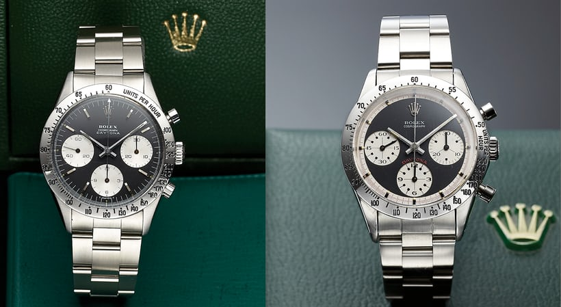 Rolex Daytona 6239 Paul Newman Comparison of Dials on Hodinkee