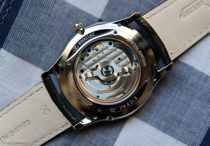 movement of Jaeger-LeCoultre Master Ultra Thin Perpetual Calendar in stainless steel