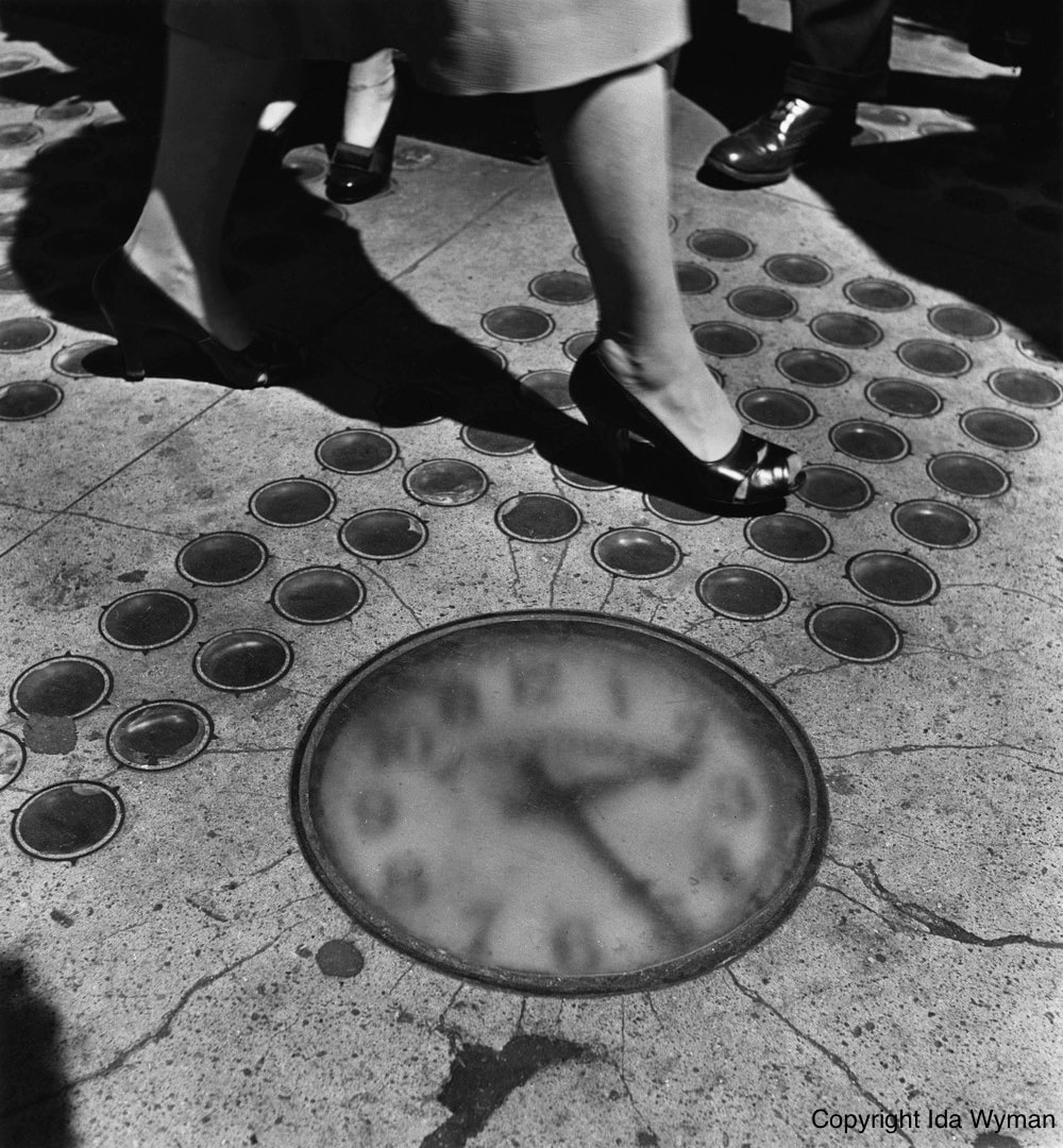Barthman sidewalk clock  Rewind: Six Of The Most Watch Nerd-y Of All HODINKEE Watch Nerd Stories Ida Wyman Sidewalk Clock NYC 1947 Small