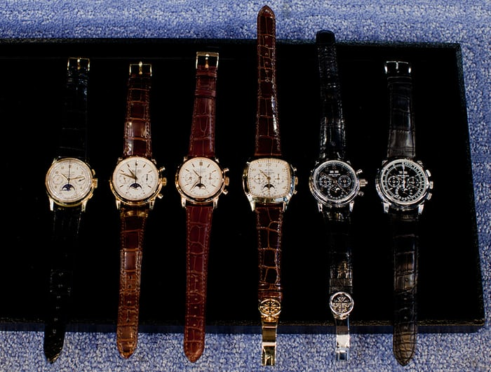 All references of Patek Philippe Perpetual Calendar Chronographs