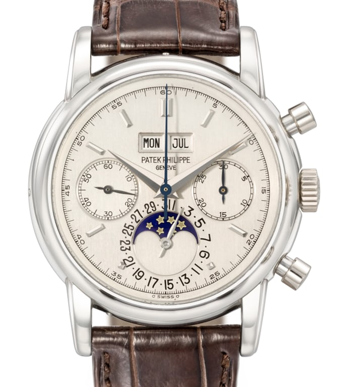 Patek Philippe Perpetual Calendar Chronographs Reference 2499 In Platinum