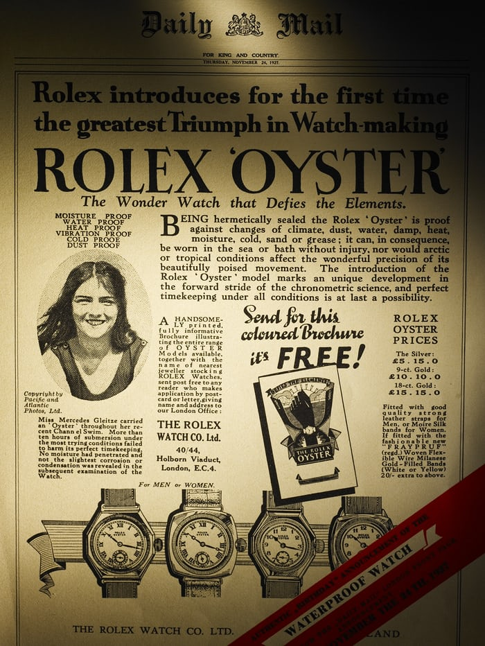 Mercedes Gleitz Rolex Ambassador Advertisement