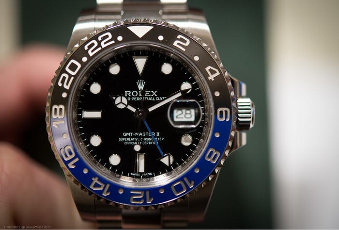 rolex batman gmt master