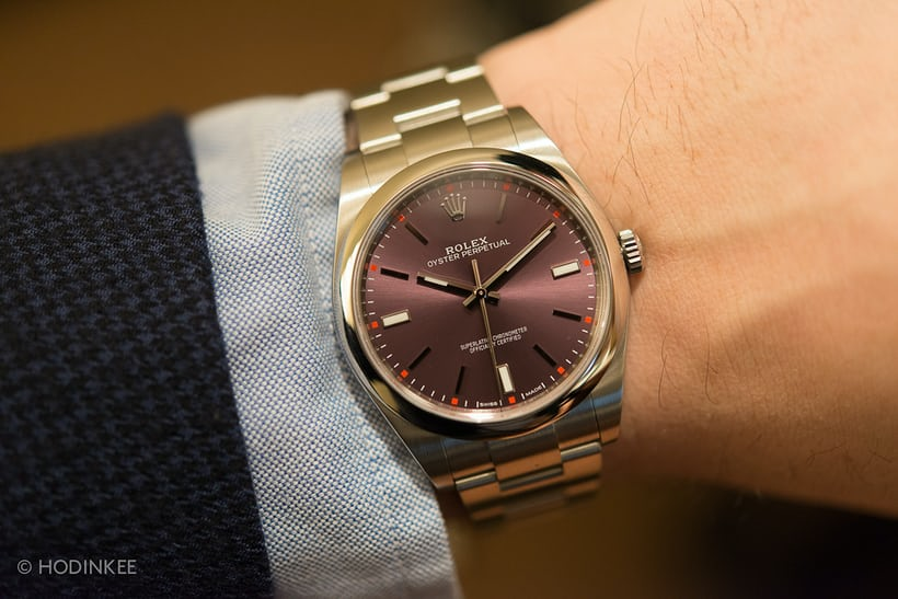 handson with the new 39 mm rolex oyster perpetual hodinkee