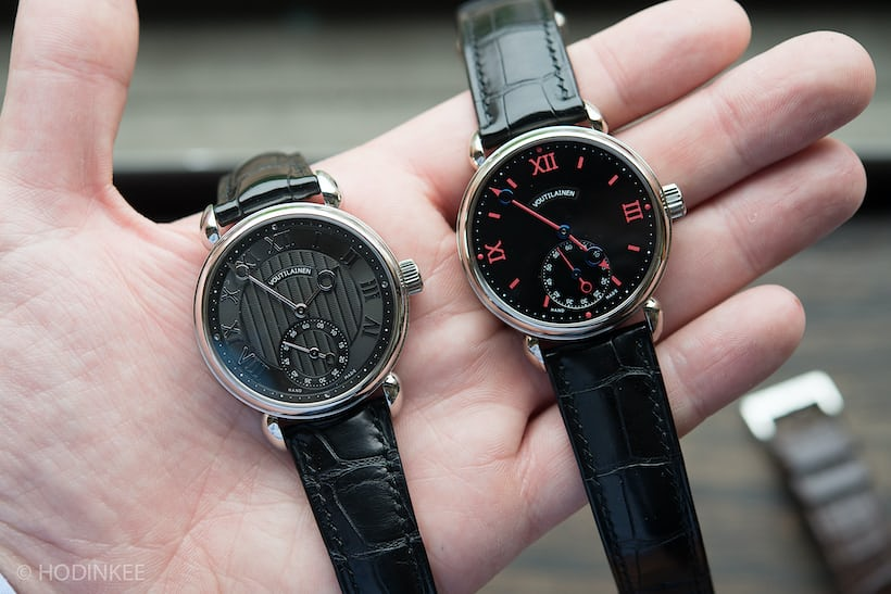 hands on the voutilainen vingt 8 in platinum and white gold hodinkee