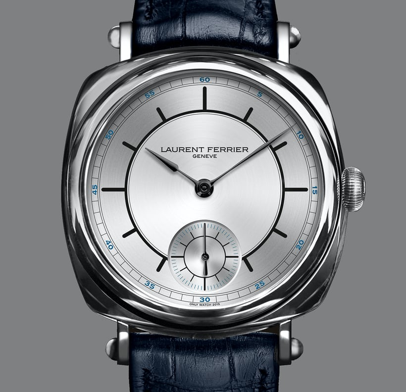 the laurent ferrier galet square unique piece for only watch 2015 complete with two tone sector. Black Bedroom Furniture Sets. Home Design Ideas
