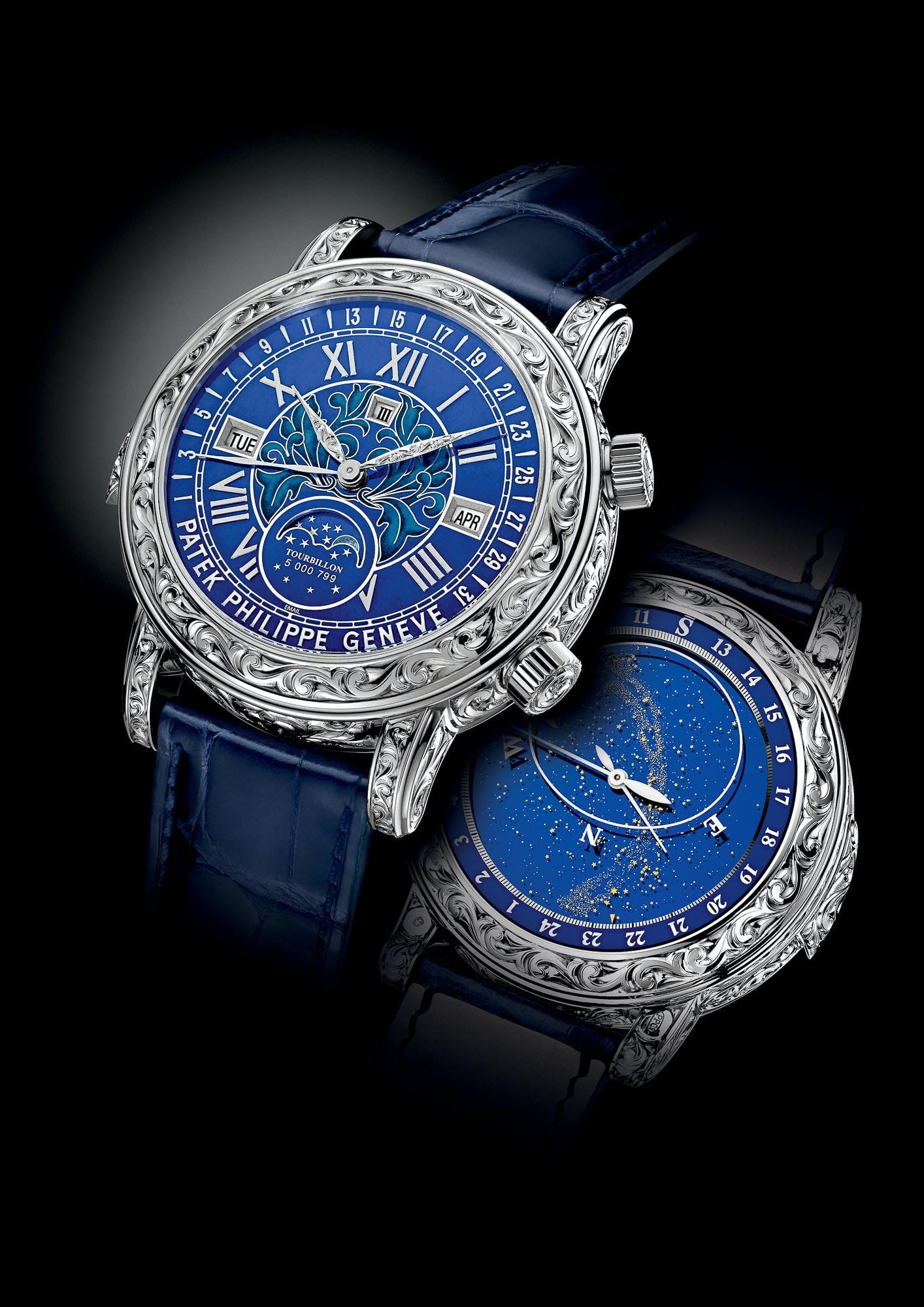 стоимость часов patek philippe sky moon tourbillon твердые духи Они