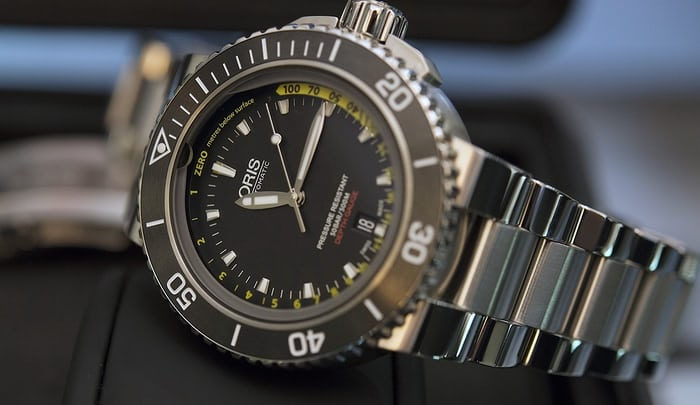 The Oris Aquis Depth Gauge.