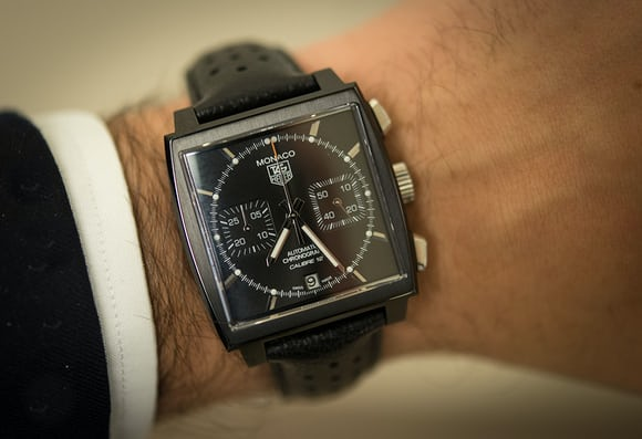 thoughts on the tag heuer monaco automobile club de monaco black edition the dark lord returns. Black Bedroom Furniture Sets. Home Design Ideas