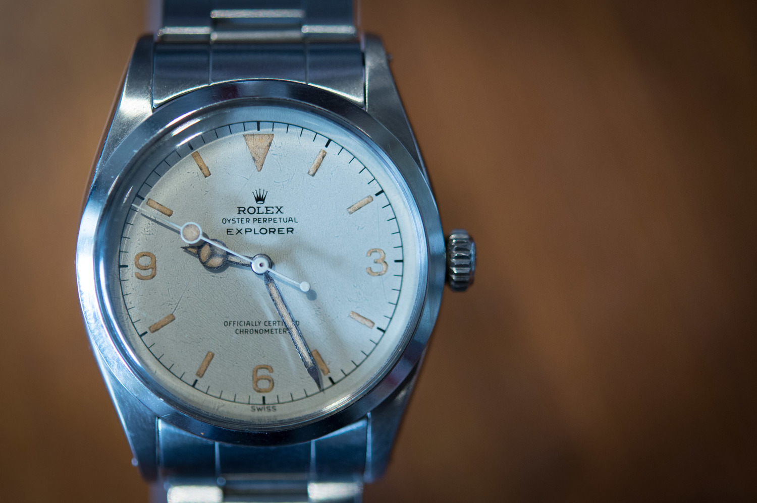 found  a rolex explorer i with a white dial  for sale at