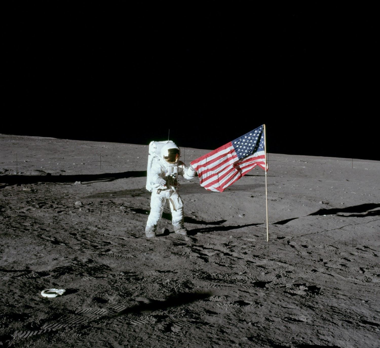 Fist man on moon