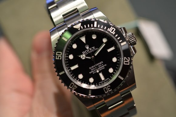 in depth the new rolex submariner no date reference 114060 live pics specs pricing video. Black Bedroom Furniture Sets. Home Design Ideas