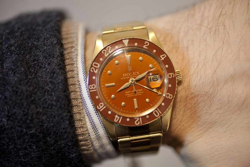 GMT Master 6542 in gold; Sotheby's
