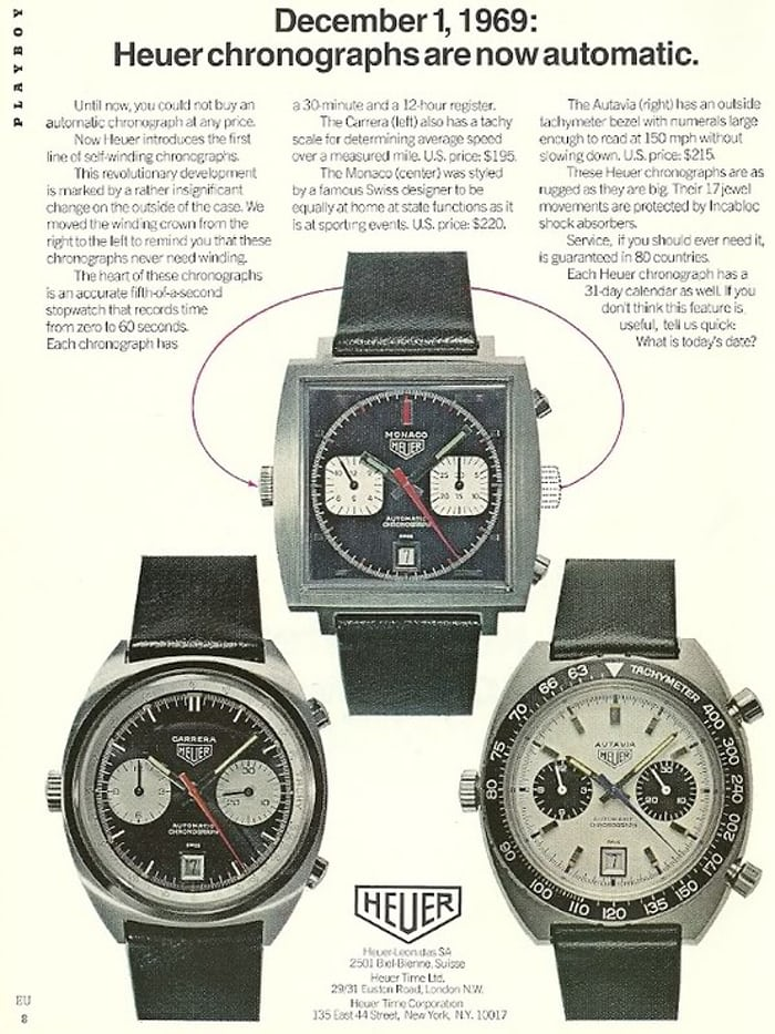 Vintage Ads Proof The Autavia Was The Bad Ass In The Heuer Chronograph Lineup, Circa -9239