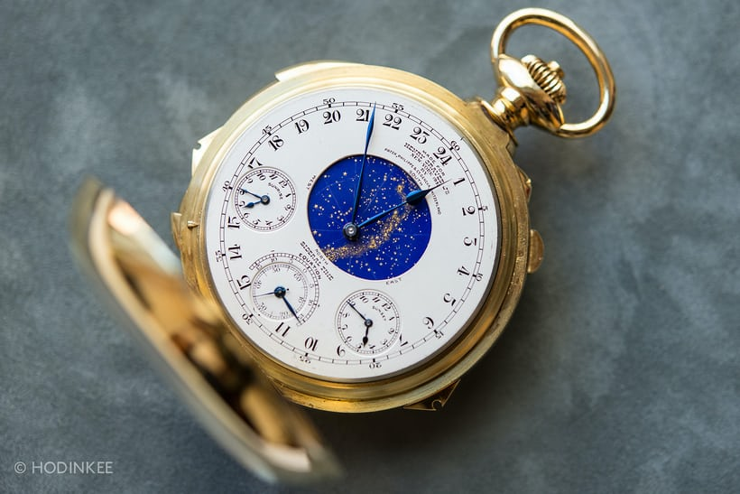 The Henry Graves Supercomplication, shortly before it hammered at Sotheby's for $24 milliion in 2004.