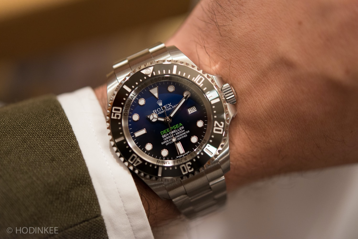 handson with the new rolex deepsea dblue dial edition