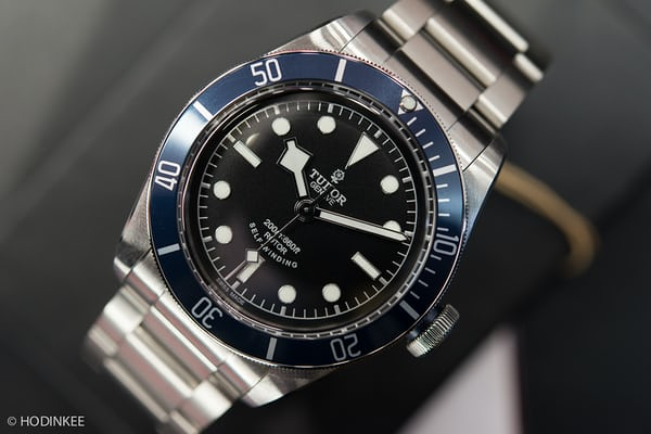 tudor black bay blue bezel