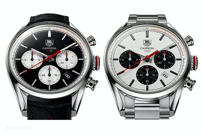ad06f1b9ac71 Two dial options are available  black with white sub-registers or white  with black.