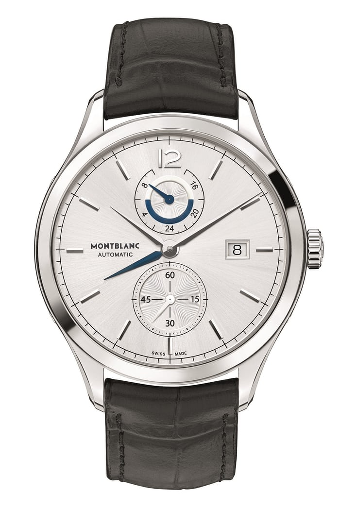 introducing the montblanc heritage chronom trie dual time. Black Bedroom Furniture Sets. Home Design Ideas