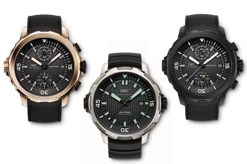 IWC Aquatimers, 2014 update.