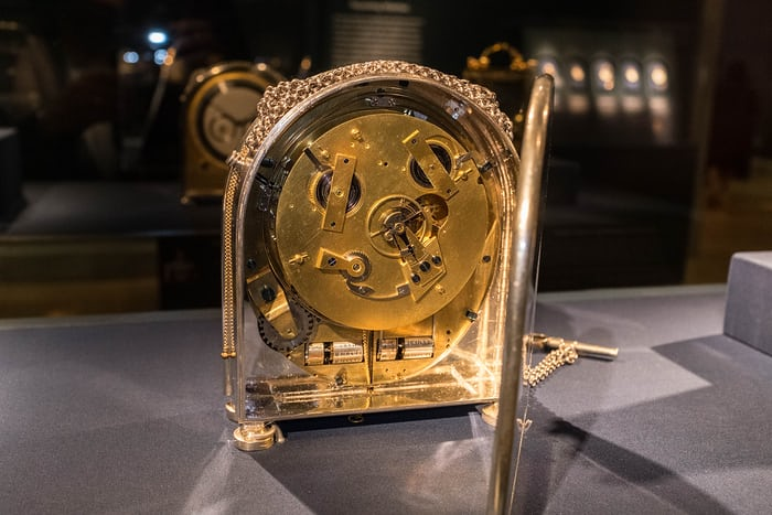 Half-quarter repeater calendar clock, sold in 1812 to Caroline Murat, Queen of Naples