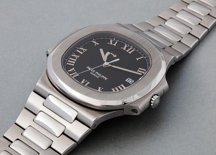 "Lot 214 - PATEK PHILIPPE Nautilus ""Lucky Thirteen"", 3710/1A, Stainless steel, 2004"