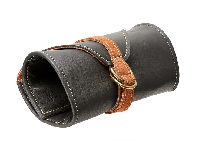 Four-Watch Brown Leather Roll