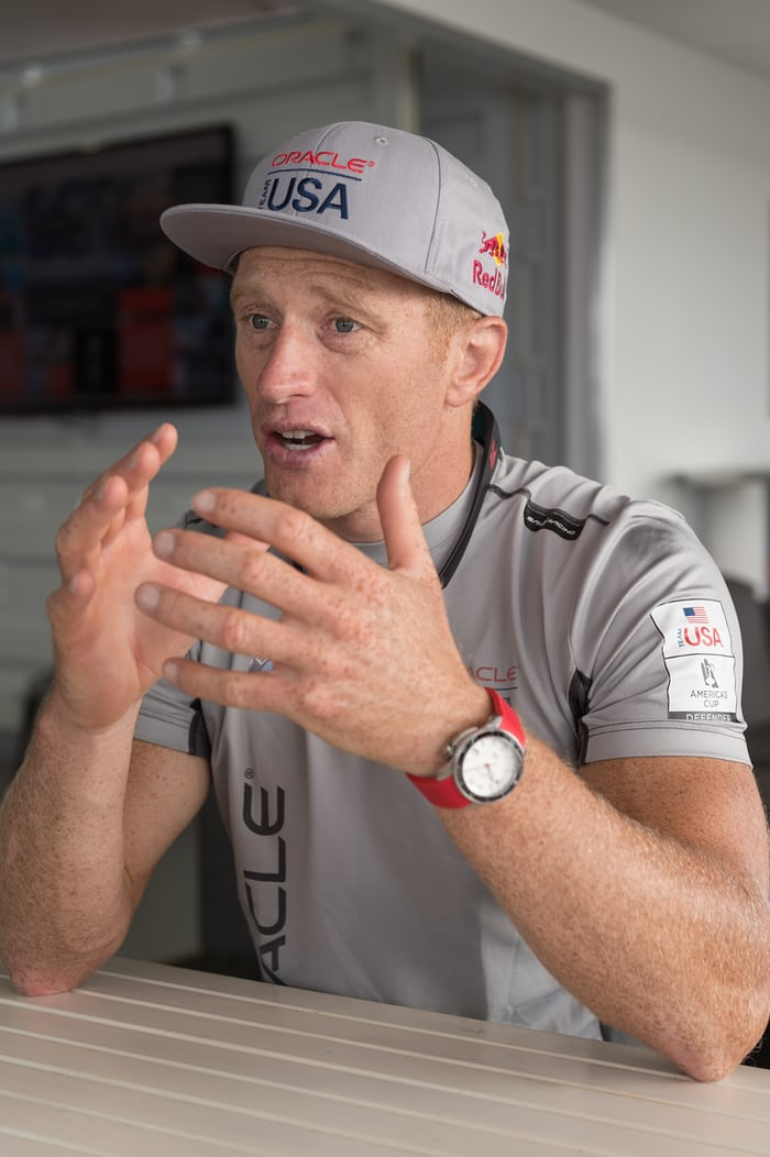 Oracle Team USA skipper Jimmy Spithill