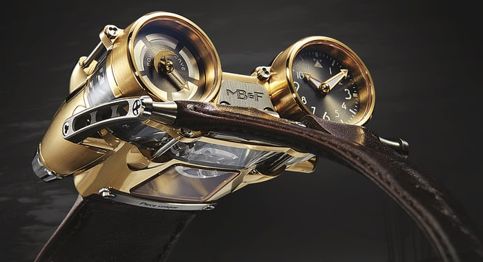 MB&F HM4 Thunderbolt yellow gold unique piece