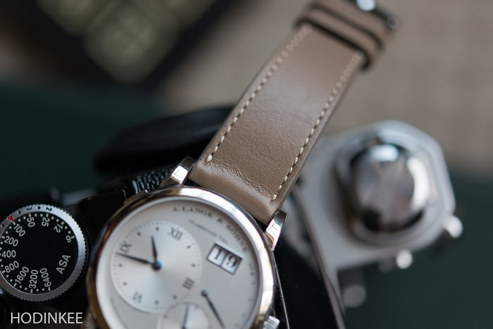 Smooth Taupe Calfskin Watch Strap HODINKEE Shop