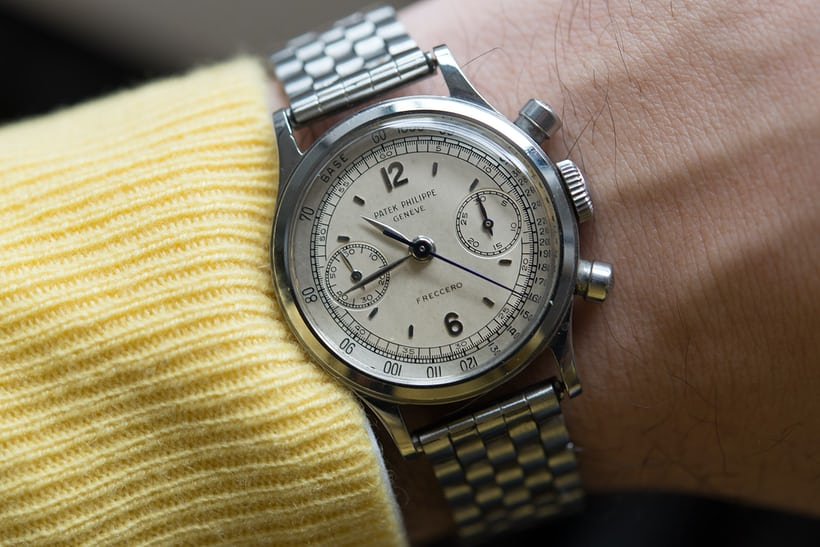 Patek waterproof chronograph 1463 in stainless steel