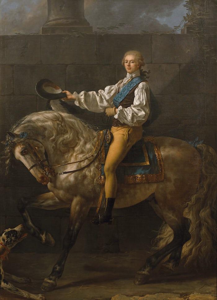 Jacques-Louis David, Portrait of Count Stanislaus Potocki