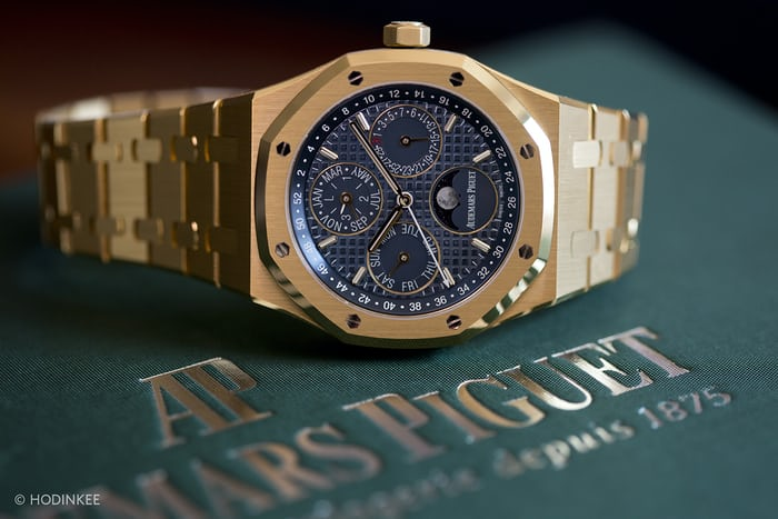 The Royal Oak Perpetual Calendar, in yellow gold.