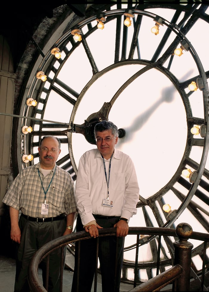 New York City's official Clock Master Marvin Schneider and his protégée, Forest Markowitz