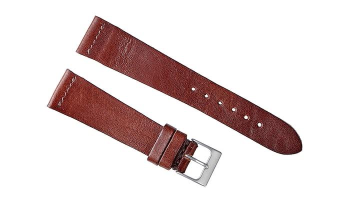 Dark Clay Calfskin Watch Strap