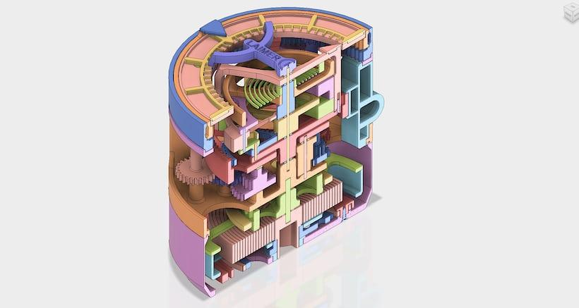Christoph Laimer's 3D Printed Tourbillon Watch - CAD Cutaway
