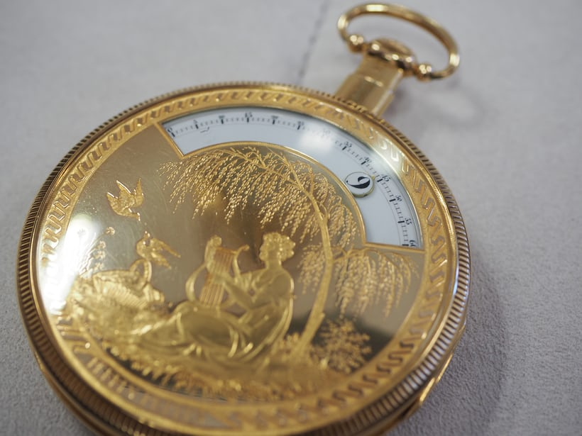 Perrin Frères pocket watch with wandering hours