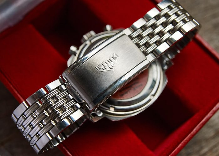 Heuer Camaro 73443 With Gay Freres Bracelet