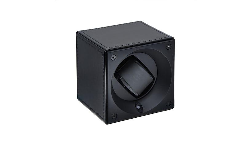 Black Calfskin Swiss Kubik Watch Winder