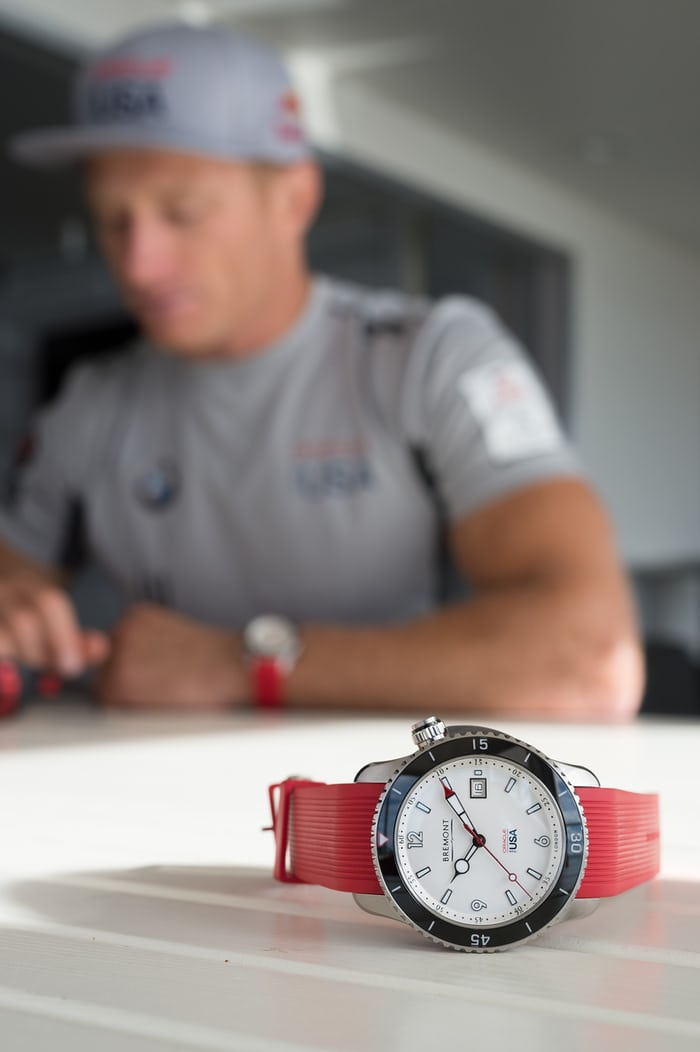 The Bremont Oracle I and skipper Jimmy Spithill