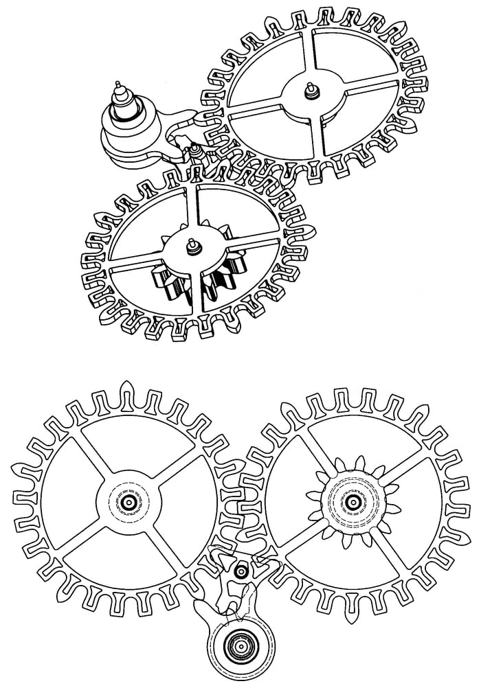 """Dual escape wheel """"Dual Direct"""" escapement, Freak 2001"""